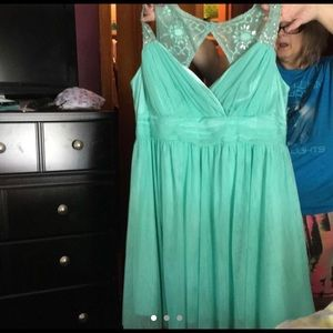 Teal homecoming dress